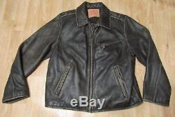 Levis Leather Motorcycle jacket vintage Large distressed