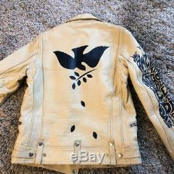 Lewis Leathers X Paul Smith Cowhide Leather Riders Jacket Size M Used