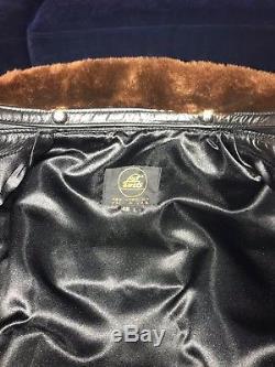 Lost Worlds J23 Buco Leather Jacket Fur Collar Belt 46 46L Horsehide Aero Vanson
