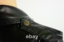 Louis Vuitton Leather Biker Black Monogram Jacket 38 FR