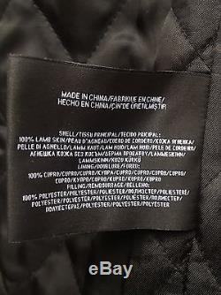 Luxury RALPH LAUREN BLACK LABEL Lambskin ZEPTO Cafe Racer Jacket M Rare