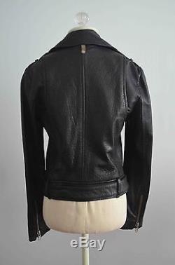 MACKAGE Aritzia Rumer Black Leather Motorcycle Jacket Sz XS Retail $690