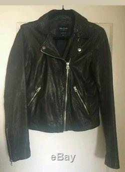 MADEWELL Washed Leather Motorcycle Jacket Size Small $498