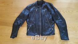 Maison Martin Margiela Black Leather Jacket Moto Cafe Racer 48 M Italy $2750