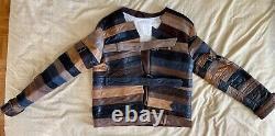 MAISON MARTIN MARGIELA H&M Leather Belt Motorcycle Jacket Size L (Xtremely Rare)