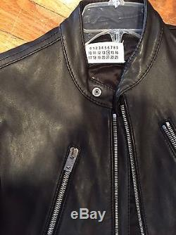 Mens Maison Martin Margiela Biker Jacket, Black, Size Eu 48 Us M