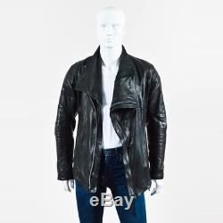 MEN'S Boris Bidjan Saberi Black Leather Asymmetrical Jacket SZ L