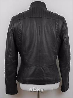 MICHAEL KORS Black SOFT GLOVE Leather Jacket Motorcycle Biker Style Women's M