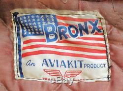 MINT VINTAGE'50s AVIAKIT BRONX MOTORCYCLE JACKET-UK MUSEUM QUALITY