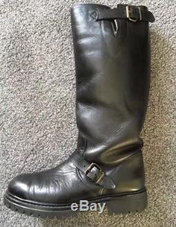 MISTER B LEATHER POLICE MOTORCYCLE PATROL BOOTS Size 9 JACKET BLUF GAY INT JEANS