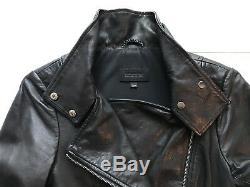 Mackage Aritzia Black Leather Jacket $575 Cropped Biker Zippers XS Lambskin