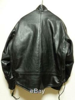 Made in USA VANSON Swedish army motorcycle leather jacket 40 good condition Used