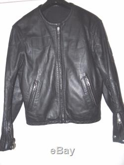 Maison Martin Margiela Vintage Backwardsblack Biker Leather Jacket