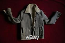 Marc Jacobs Genuine Leather Shearling Sheepskin Coat/Jacket Size 48 Italy