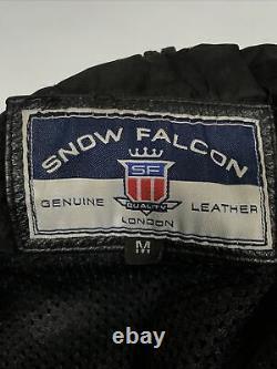 Marlboro leather motorcycle jacket medium Mens 46 Chest