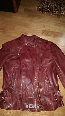 Massimo Dutti womens leather jacket