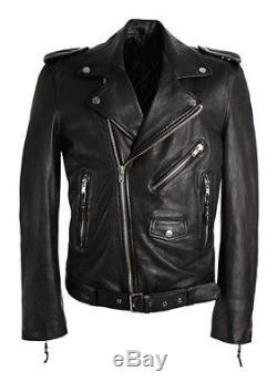 Men's BLKDNM Leather Jacket 5 Size M