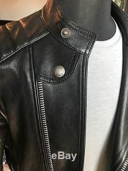 Men's Black sz 52R Tom Ford leather motorcycle jacket that still sells in store