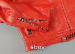 Men's Ferrari Leather Motorcycle Racing Jacket Size L