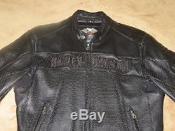 Men's Harley Davidson Leather Aeration Jacket XLarge
