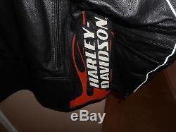 Men's Harley-Davidson Racing Screamin Eagle Raceway Leather Jacket XL Mint