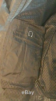 Men's Harley Davidson Road Warrior Leather Jacket Black Size L Reflective