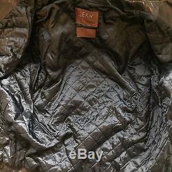 Men's Jean Shop Black Leather Motorcycle Jacket XXL $2500