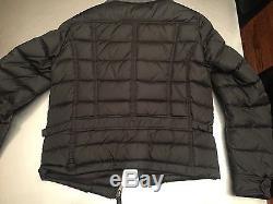 Men's MONCLER Black Motorcycle Side Zip Size 2 Medium. $1250 New. Puffer. Jacket