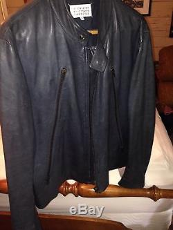 Men's Martin Margiela Navy 5-Zip Jacket
