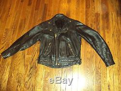 Men's Pre-owned Langlitz Leathers Motorcycle Vtg Jacket Size S