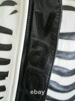Men's RARE Vanson Leathers Bones FLAT-TRACK Black Leather Jacket size Medium 42