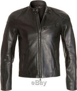 Men's Ralph Lauren Purple Label Cafe Biker Black Leather Jacket L