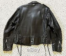 Men's Schott NYC PERFECTO Leather Jacket 42 MOTORCYCLE BIKER