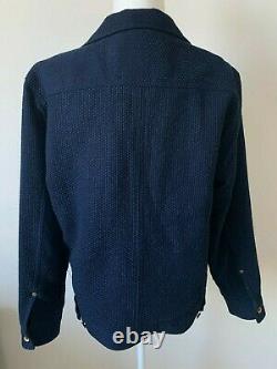 Men's Taylor Stitch The Long Haul Jacket in Indigo Sashiko M 40 $228 MSRP