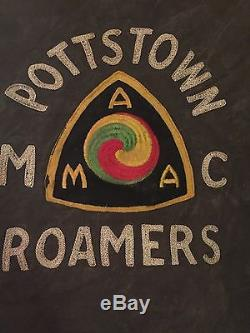 Men's Vintage Authentic 1950's AMA Pottstown Roamers MC Motorcycle Club Jacket