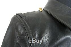 Men's Vintage German Police Horsehide Leather Jacket Small