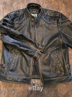 Men's affliction leather jacket XXXL Limited Edition Buckle