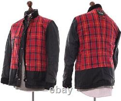 Mens BARBOUR INTERNATIONAL Motorcycle Jacket Wax Waxed Black Size L