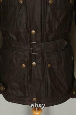 Mens BELSTAFF Belted Motorcycle WAXED Jacket Size Large