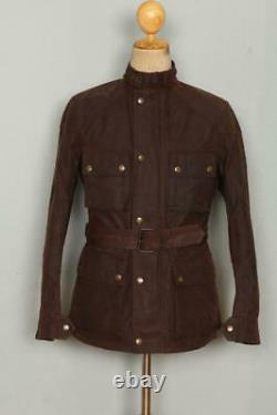 Mens BELSTAFF Belted Motorcycle WAXED Jacket Size S/XS
