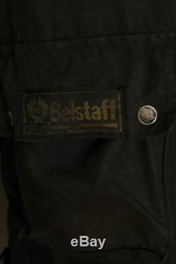 Mens BELSTAFF Padded WAXED Motorcycle Jacket Size Large