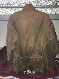 Mens Barbour international union wax Brown military rare motorcycle jacket M/48