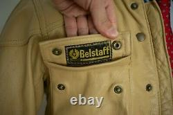 Mens Belstaff Leather Motorcycle Panther Belted Jacket Size XS S