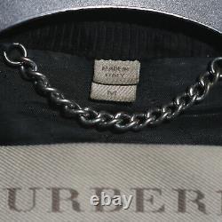 Mens Burberry Black Lamb Leather Biker Jacket Runway Size M Medium Quilted