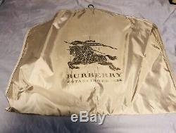 Mens Burberry London Black Washed Lambskin Leather Jacket L