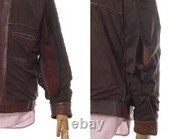 Mens HUGO BOSS Leather Jacket Brown Size 50 40 L