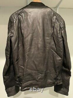 Mens SCOTCH & SODA Amsterdam Couture Black Leather Biker Jacket