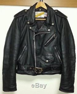 Mens Schott Perfecto Size 40 Motocycle Jacket Black Leather Vintage 618