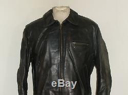 Mens Vintage AERO Front Quarter HORSEHIDE Leather Motorcycle Biker Jacket 44