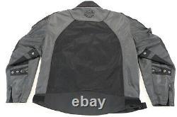 Mens harley davidson mesh jacket M Blade black gray reflective armor skull bar